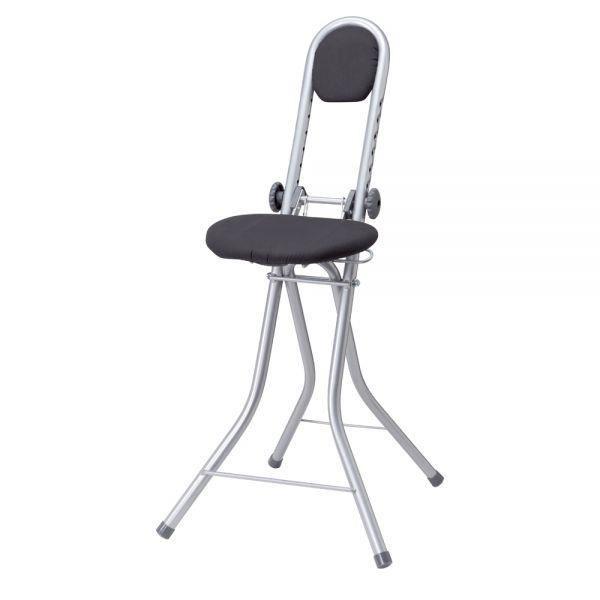 si ge d 39 appoint pliable et r glable en hauteur wenko achat vente chaise cdiscount. Black Bedroom Furniture Sets. Home Design Ideas