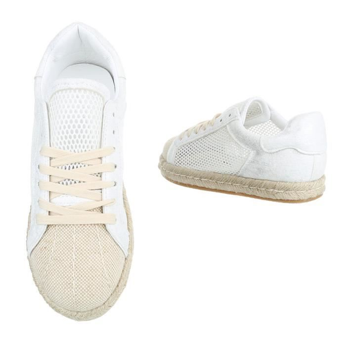 Chaussures femme chaussures sportlaceter Sneakers blanc 41