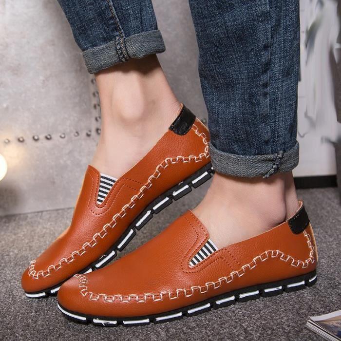 Hommes d'été Mocassins Vintage Style de conduite Chaussures 4zIazk5BY7