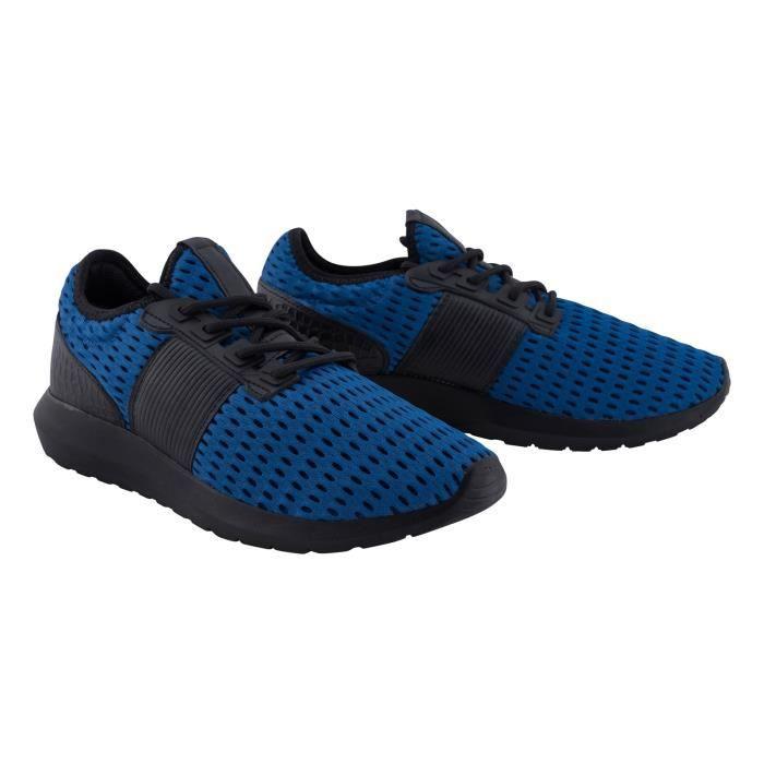 TAMBOGA chaussures sport course dentelle Sneakers Low Hommes noir Chaussures de plat en de rtqCrw