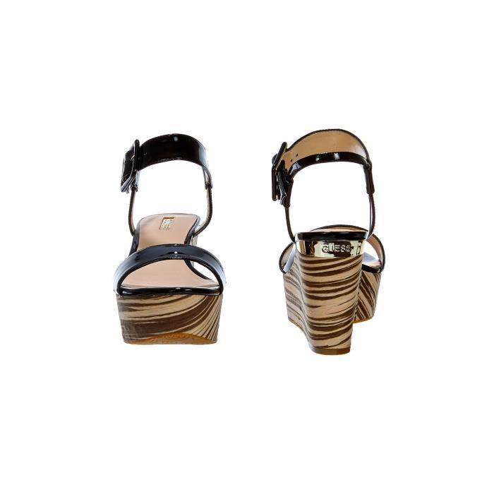 Chaussures Compensees Guess Deysi2 Noir Femme