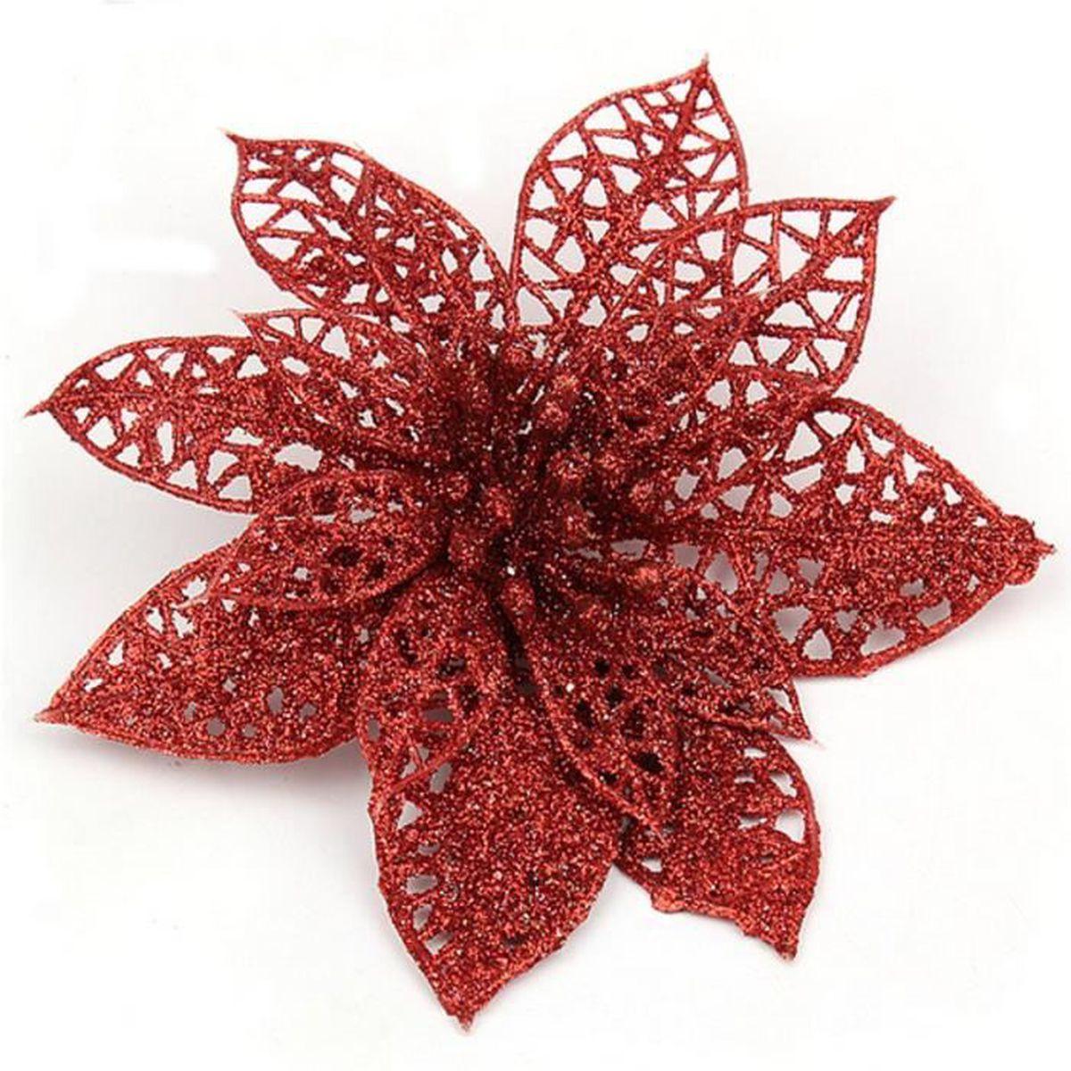 decoration pour sapin de noel elegant 13cm fleurs de. Black Bedroom Furniture Sets. Home Design Ideas