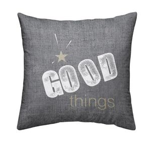 TODAY Coussin déhoussable Chambray Coton GOOD THINGS - 40x40cm