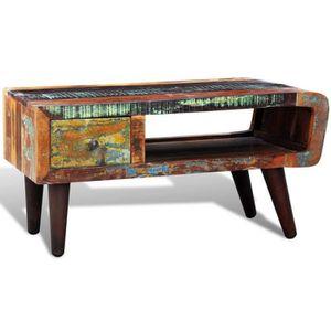 TABLE BASSE R126 La table basse en bois exotique recycle a un