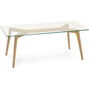 TABLE BASSE Table basse rectangulaire plateau verre design sca