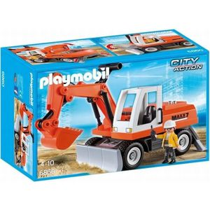 VOITURE - CAMION PLAYMOBIL 6860 Tractopelle avec Godet