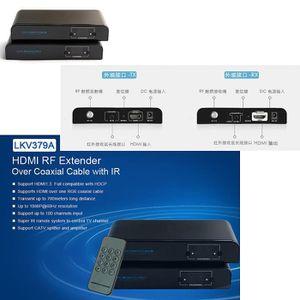 REPARTITEUR TV Kit Emetteur et Récepteur HDMI RF sur Câble Coaxia