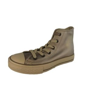BASKET Converse All Star Chuck Taylor Hi cuir taupe