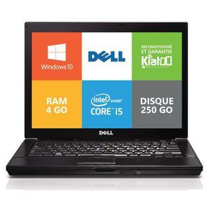 ORDINATEUR PORTABLE Ordinateur portable Dell E6410 Core I5 4go ram 250