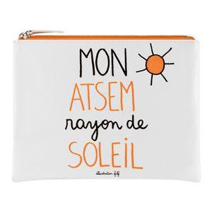 TROUSSE DE MAQUILLAGE Trousse de Rangement MON ATSEM - Pochette Idée Cad