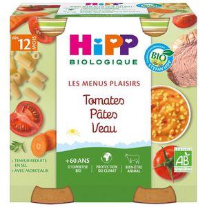 PLATS PRÉPARÉS SOIR HIPP BIOLOGIQUE Les menus plaisirs Tomates Pâtes V