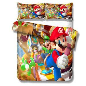 HOUSSE DE COUETTE ET TAIES Super Mario Style Parure de Couette Housse de Coue
