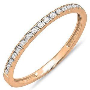 BAGUE - ANNEAU Bague Femme Diamants 0.12 ct  10 ct 471-1000 Or Ro