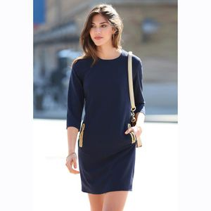 39d977576580 ROBE Robe courte manches 3 4 pinces zip invisible femme