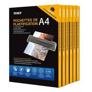 PLASTIQUE A PLASTIFIER 500 Feuilles De Plastification A4 150 Microns