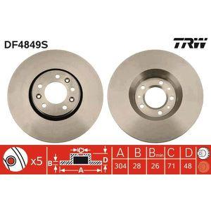 DISQUES DE FREIN TRW Disque de frein unitaire DF4849S