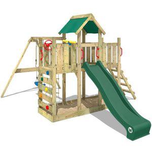 BALANÇOIRE - PORTIQUE Aire de jeux WICKEY  TwinFlyer Portique en bois To