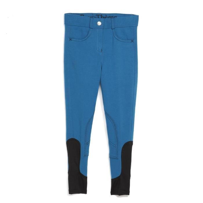 EQUI-THEME Pantalon d'équitation Pro Fun Line - bleu roi / noir - enfant