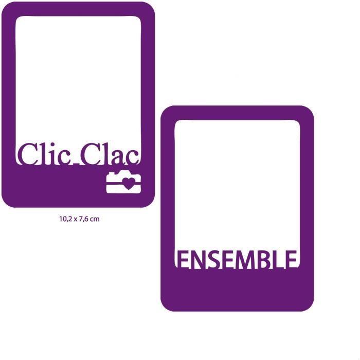 TOGA Dies 2 Cartes Ensemble & Clic Clac - 7,6 x 10,2 cm