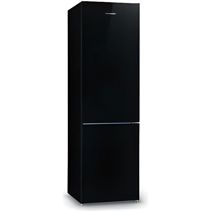 RÉFRIGÉRATEUR CLASSIQUE Réfrigérateur SCHNEIDER SCB250NFGLB Verre noir