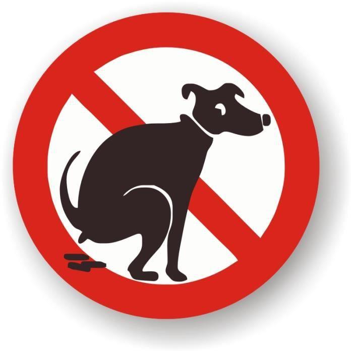 autocollants chien interdit pas d 39 excr ment achat vente signal tique ext rieure. Black Bedroom Furniture Sets. Home Design Ideas