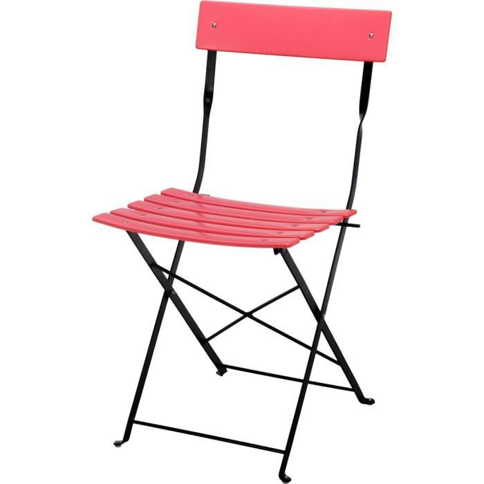 Chaises de jardin rose achat vente chaises de jardin for Chaise 80 cm