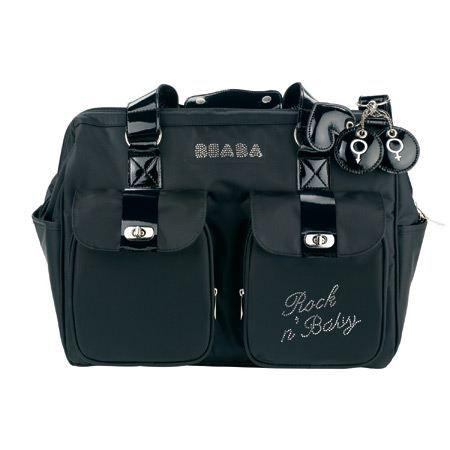 2b7f69a8126baf BEABA - Sac a langer rock n baby Noir - Achat   Vente sac à langer ...