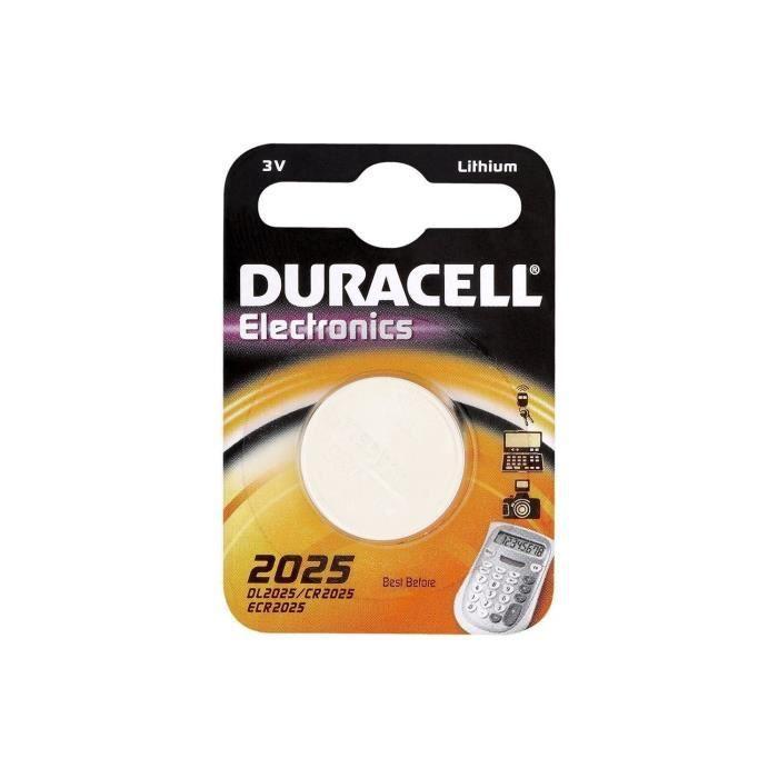 DURACELL Lot de 2 piles bouton lithium