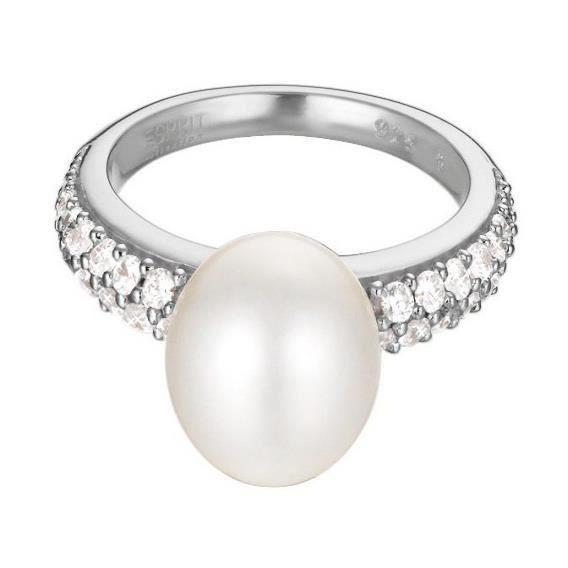 Esprit - Esprit ESRG92300A Femmes Anneau pearl sphere Argent 92553 (16.9) Réf 27180