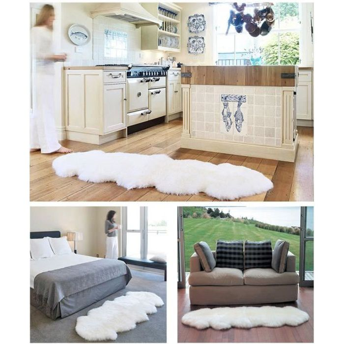 tapis blanc chambre achat vente tapis blanc chambre pas cher cdiscount. Black Bedroom Furniture Sets. Home Design Ideas