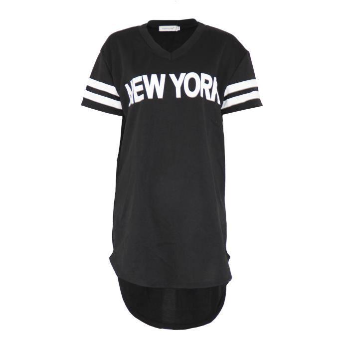 site réputé San Francisco jolie et colorée Robe pull femme new york Avany Noir - Achat / Vente robe ...