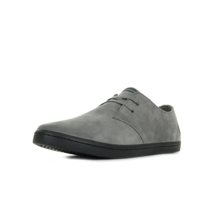 Baskets Fred Perry Byron Low Suede Falcon Grey Charcoal