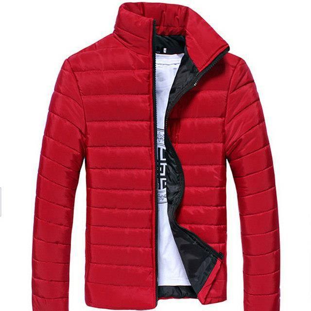 Grande bleu Rouge blanc Fit Taille bleu Foncé Zippée Hiver Doudoune Casual Blanc gris Cyan noir Homme orange Vintage Bleu rouge Fashion vert Motard Style Slim OWq7wa
