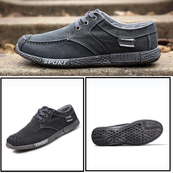 Skateshoes Homme Tendance cool Denim épais Sole Skater hommes gris taille9.5