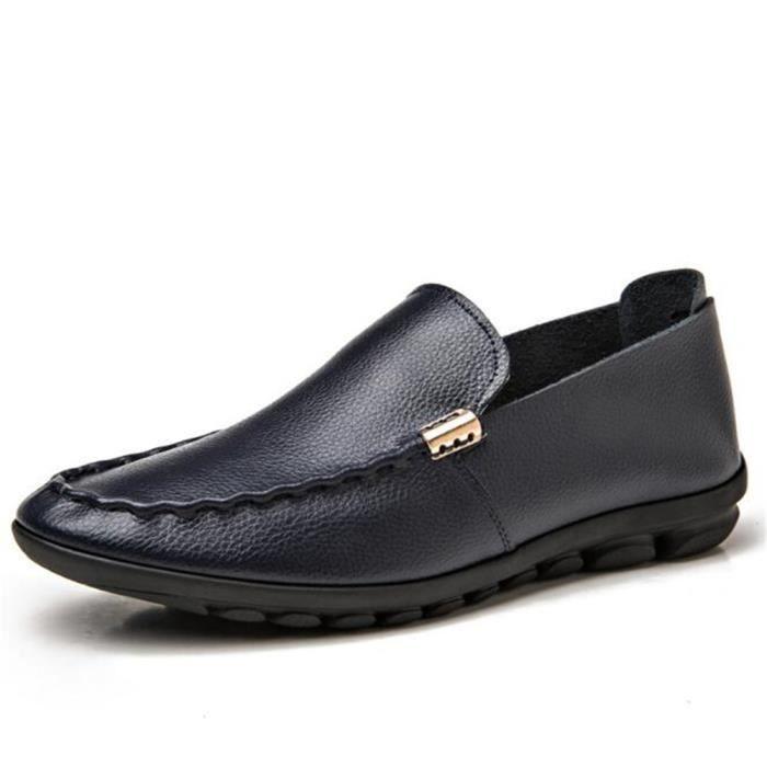Marque 2017 à la ete qualité Cuir Travail main homme De 44 Taille Grande De Haut Luxe moccasins En Chaussure Antidérapant 38 nFvIS4w