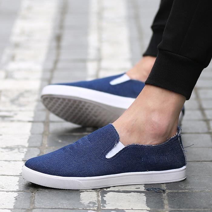 De haute qualité nouvelle mode 2016 été Mules Chaussures de toile pour hommes respirante Mode casual Mocassins Driving Chaussures 5IuuK4sPW