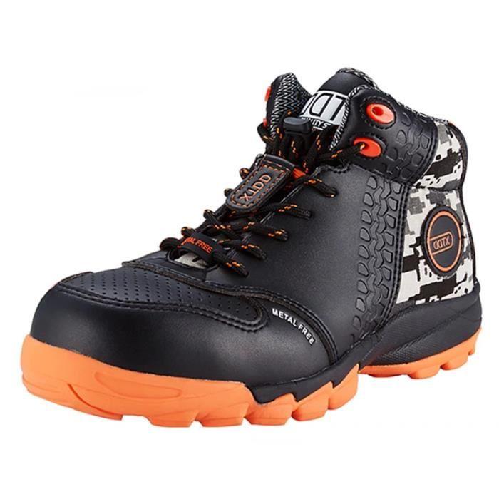 Bottes de travail Toe composites anti-dérapante cheville haute sécurité Chaussures Noir MB87S Taille-42 IU1rY0eT