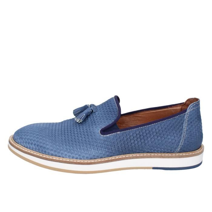 Bleu Mocassin Homme Dt7pqta Chaussures Italy 2 Made Bt696 In Y67gbfvy