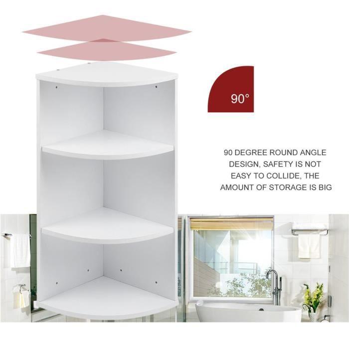 3 étages étagère de rangement en bois de salle de bain rack de ...
