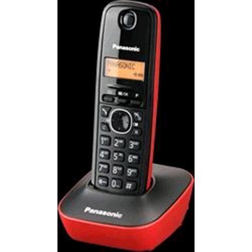 e9f1885dd86f2e TÉLÉPHONE SANS FIL PANASONIC KX TG1611JTR ITALIE ROUGE NOIR - Achat ...
