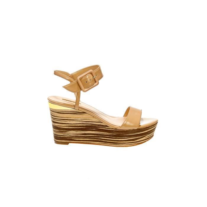 Chaussures Compensees Guess Deysi2 Beige Femme LGdxNDIM