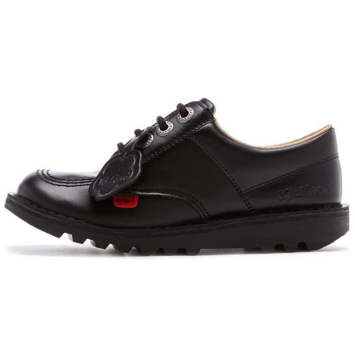 Kickers Kick Lo Core Junior Cuir Chaussures en Noir 1KF0000439BTW