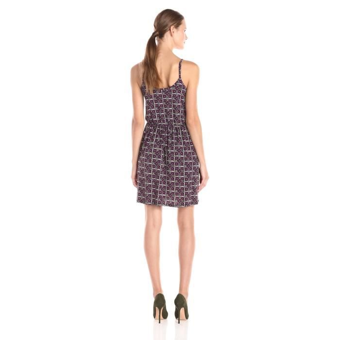 Bcbgeneration sans manches floral féminin imprimé robe portefeuille faux Q07QS
