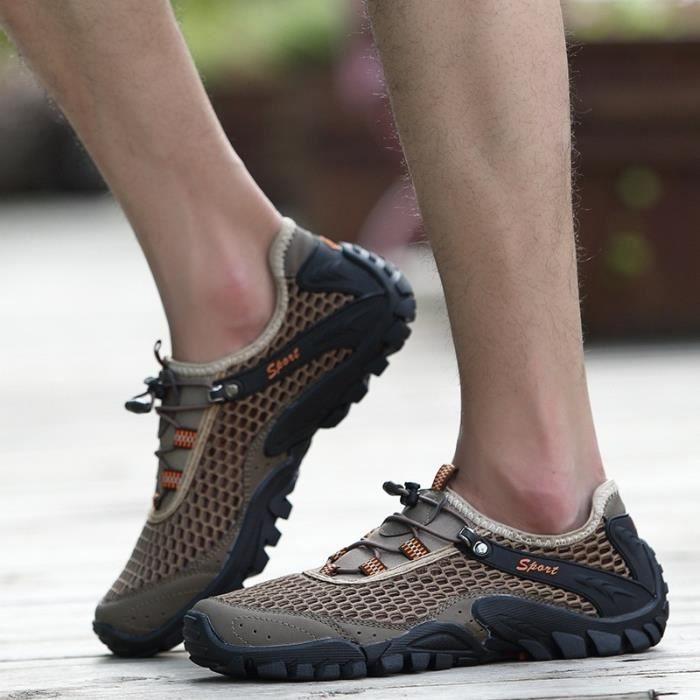 Mode Homme Nouveau Chaussures Voyage pataugeoires Alpinisme Sports de plein air Chaussures antidérapants résistant à l'usure wwyGM