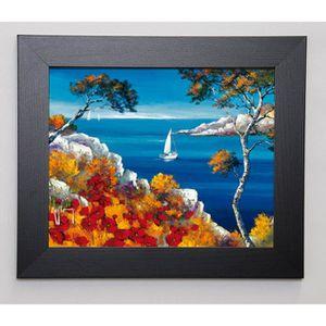 KEIFLIN ROGER Image encadrée Promenade vers les calanques 31x37 cm Multicolore