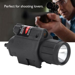 LAMPE DE POCHE 20mm Vue extérieure de pistolet rouge léger avec l