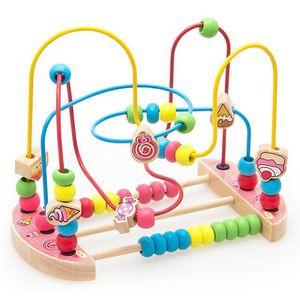 TABLE JOUET D'ACTIVITÉ 1PCS  Jouet Bois Boulier Labyrinthe Boulier Enfant