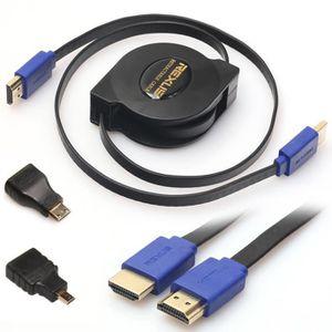 CÂBLE TV - VIDÉO - SON 1.8M 3in1 HDMI vers HDMI - Mini - Micro adaptateur