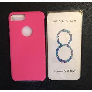 coque iphone 7 plus rose fluo