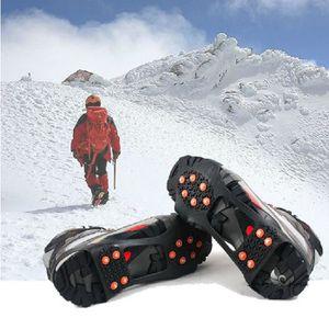 CRAMPON POUR GLACE Sur Chaussures cloutées Poignées neige glace Poign